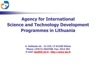 Agency for International Science and Technology Development Programmes in Lithuania