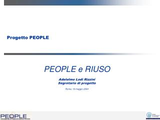 Progetto PEOPLE