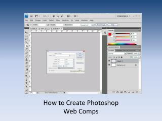 How to Create Photoshop  Web Comps