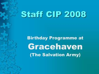 Staff CIP 2008
