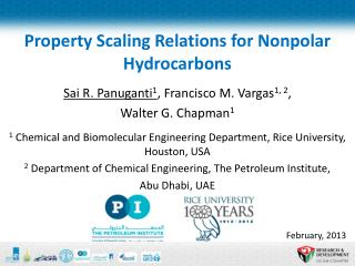 Property Scaling Relations for Nonpolar Hydrocarbons
