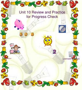 Unit 10 Review and Practice  for Progress Check