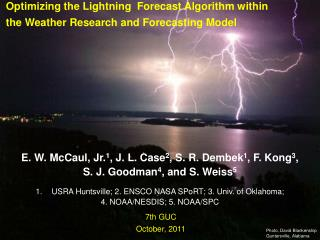 Optimizing the Lightning  Forecast Algorithm within the Weather Research and Forecasting Model