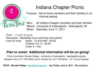 Indiana Chapter Picnic