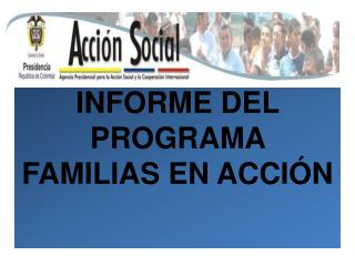 INFORME DEL PROGRAMA FAMILIAS EN ACCI�N
