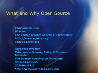 What and Why Open Source