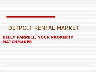 DETROIT RENTAL MARKET