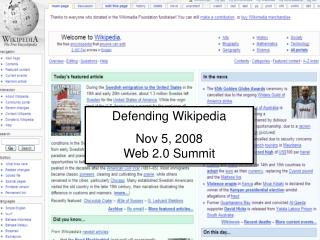 Defending Web 2.0 From Virtual Blight Presentation