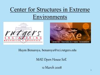 Center for Structures in Extreme Environments