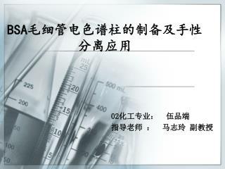 BSA 毛细管电色谱柱的制备及手性分离应用