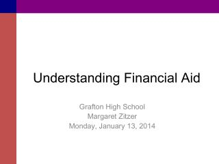 Understanding Financial Aid