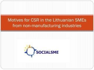 Motives for CSR in the Lithuanian SMEs from non-manufacturing industries