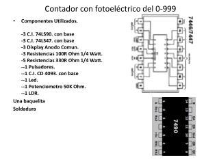 Contador con fotoeléctrico del 0-999