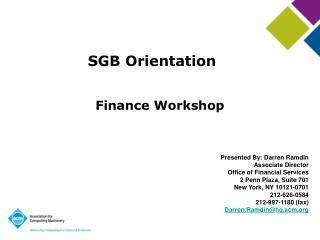 SGB Orientation