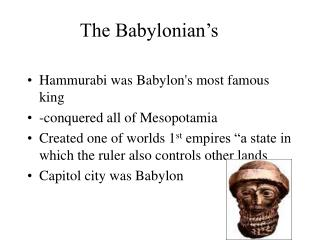 The Babylonian's