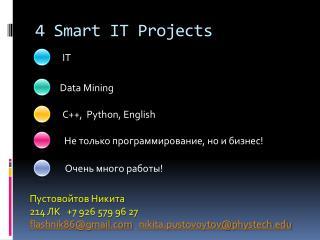 4 Smart IT Projects