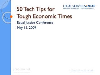 50 Tech Tips for Tough Economic Times