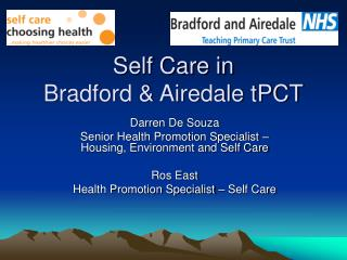Self Care in Bradford & Airedale tPCT