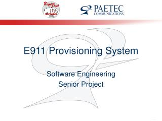 E911 Provisioning System