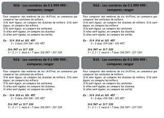 N16 - Les nombres de 0 à 999 999: comparer, ranger
