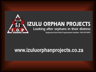 Izulu Orphan Projects  is an NGO that deals with Orphans and Widows who are affected by HIV/Aids.
