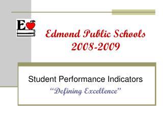 Edmond Public Schools 2008-2009