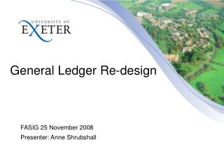General Ledger Re-design
