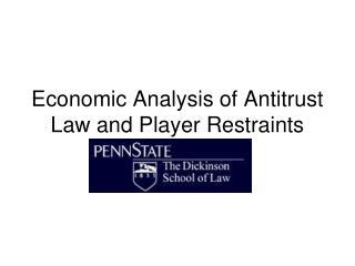 Economic Analysis of Antitrust Law and Player Restraints