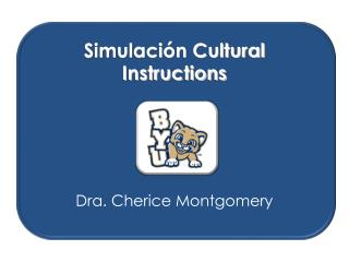 Simulación Cultural Instructions