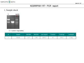 KESRRP001 RT- PCR  report