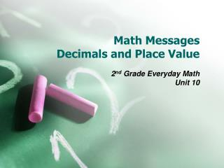 Math Messages Decimals and Place Value