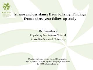 Shame and desistance from bullying: Findings from a three-year follow-up study