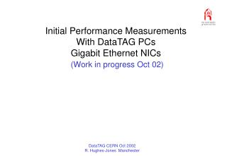 Initial Performance Measurements With DataTAG PCs Gigabit Ethernet NICs (Work in progress Oct 02)