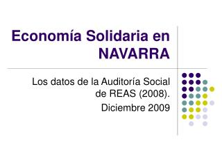 Economía Solidaria en NAVARRA