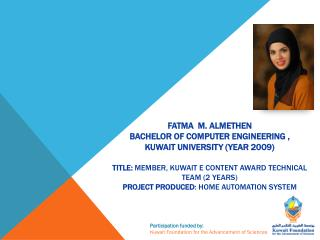 Participation  funded  by:  Kuwait  Foundation for  the Advancement of  Sciences