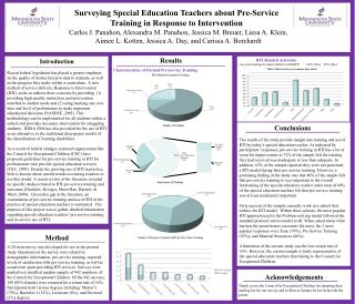 Surveying Special Education Teachers about Pre-Service Training in Response to Intervention