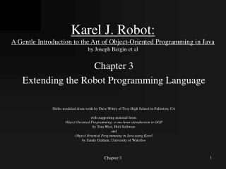 Chapter 3 Extending the Robot Programming Language