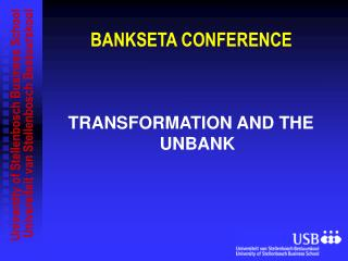BANKSETA CONFERENCE