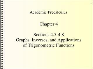 Academic Precalculus