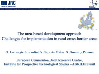 The area-based development approach  Challenges for implementation in rural cross-border areas