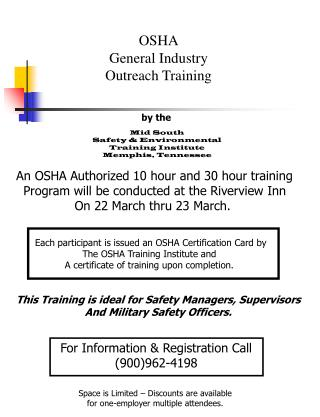 OSHA General Industry Outreach Training