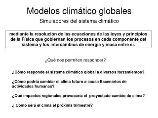 Modelos climático globales