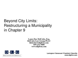 Beyond City Limits: Restructuring a Municipality in Chapter 9