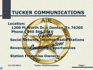 TUCKER COMMUNICATIONS