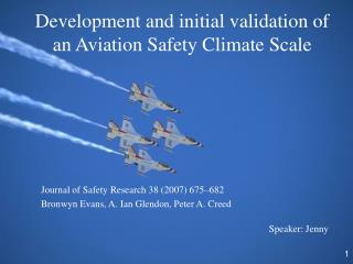Development and initial validation of an Aviation Safety Climate Scale