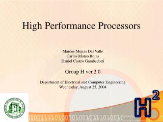 High Performance Processors