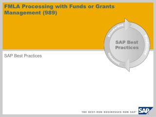 FMLA Processing with Funds or Grants Management (989)