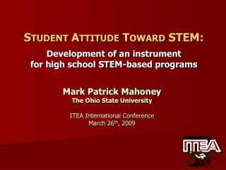 Student Attitude Toward STEM :