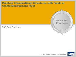Maintain Organizational Structures with Funds or Grants Management (976)