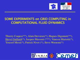 SOME EXPERIMENTS on GRID COMPUTING in COMPUTATIONAL FLUID DYNAMICS